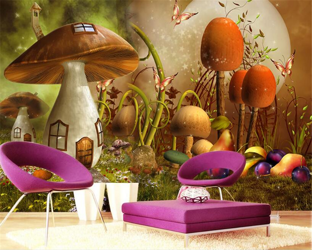 Beibehang Custom Wallpaper Dream Cartoon Big Tree Kids Room Forest 3D TV Backdrop Living Room Bedroom Mural 3d wallpaper photo custom any size mural wallpaper 3d stereoscopic universe star living room tv bar ktv backdrop bedroom 3d photo wallpaper roll