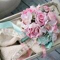 Departamento Forestal de Rose ramo de novia ramo de la flor Artificial ramo bruidsboeket mariage nupcial Wedding bouquet bruidsboeket