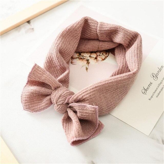 1 PC Winter Warm Ear Warmer Headwrap Xmas Girls' Crochet Headband Knitted Bow Hairband Hair Band Accessories 1