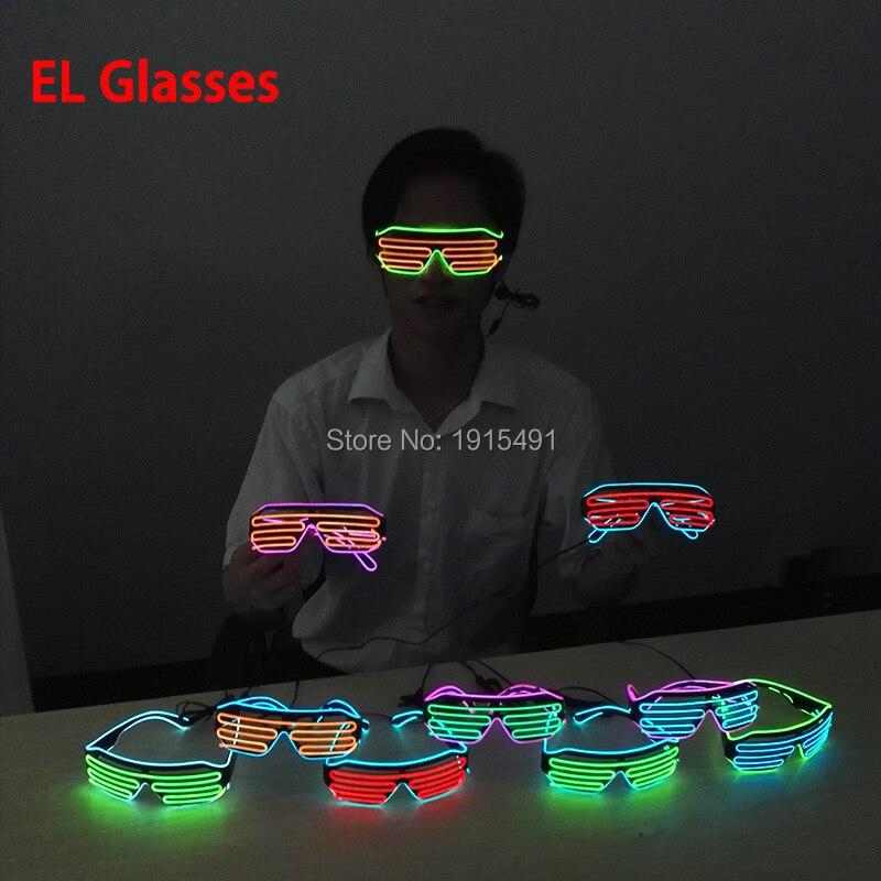 Lights & Lighting ... Novelty Lighting ... 32796411896 ... 4 ... Popular Two Color Bicolor EL shutter glasses LED neon glasses with DC3V EL converter For Bachelor party,Novelty Lighting ...