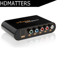 5 RCA Ypbpr component to Composite AV CVBS&S video audio&video converter
