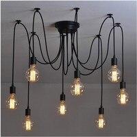 L2 DIY Darling Flower Chandelier Modern Nordic Retro Hanging Pendant Lights Fixtures Spider Ceiling Lamp Fixture