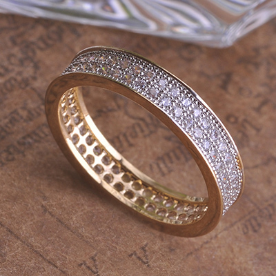 product MECHOSEN Men Women Bicyclic Engagement Rings Loki 18K Gold AAA CZ Diamond Punk Anel Aneis Hobbit Masculinos Anneau meus pedidos