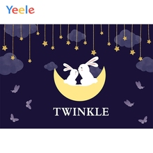 Yeele Rabbits Bedhead Cartoon Stars Moon butterfly Photography Backdrops Personalized Photographic Backgrounds For Photo Studio