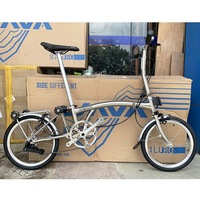 3SIXTY Chrome Steel Folding Bike 16 349 Larger Size Bicycle with Caliper Brake Mini Rear Rack Inner 3 Speed Foldable Bikes