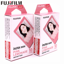 Original Fuji Fujifilm 20 sheets Instax Mini Pink Frame Instant Film photo paper for  mini 8 7s 25 50s 90 9 Camera