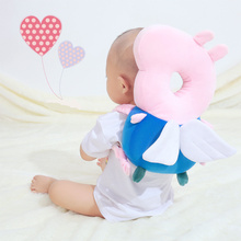 Baby Head Protection Pad Toddler Headrest Neck Cute Pig Wings Nursing Drop Resistance Cushion Protect Newborns Pillow