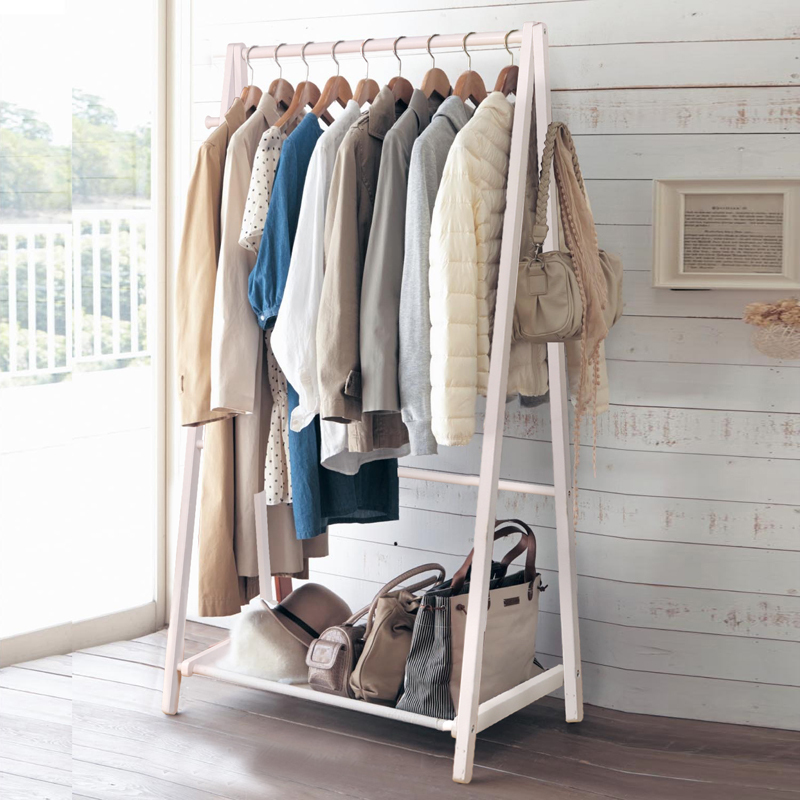 Yi Creative Home Floor Wood Coat Rack Hangers Clothes Bedroom Continental White Pants Send In Cabinet Pulls From Improvement On