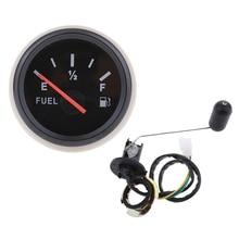 2'/52mm 12V Car Boat Fuel Level Gauge Meter Fuel Sensor Sender Unit Kit Indicador de nivel de combustible jauge de carburant