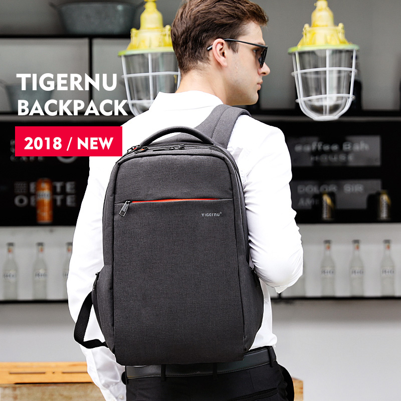 2019 Tigernu Fashion Anti theft Backpack Men 15 6 Laptop Waterproof Male Female Mochila Comfortable School