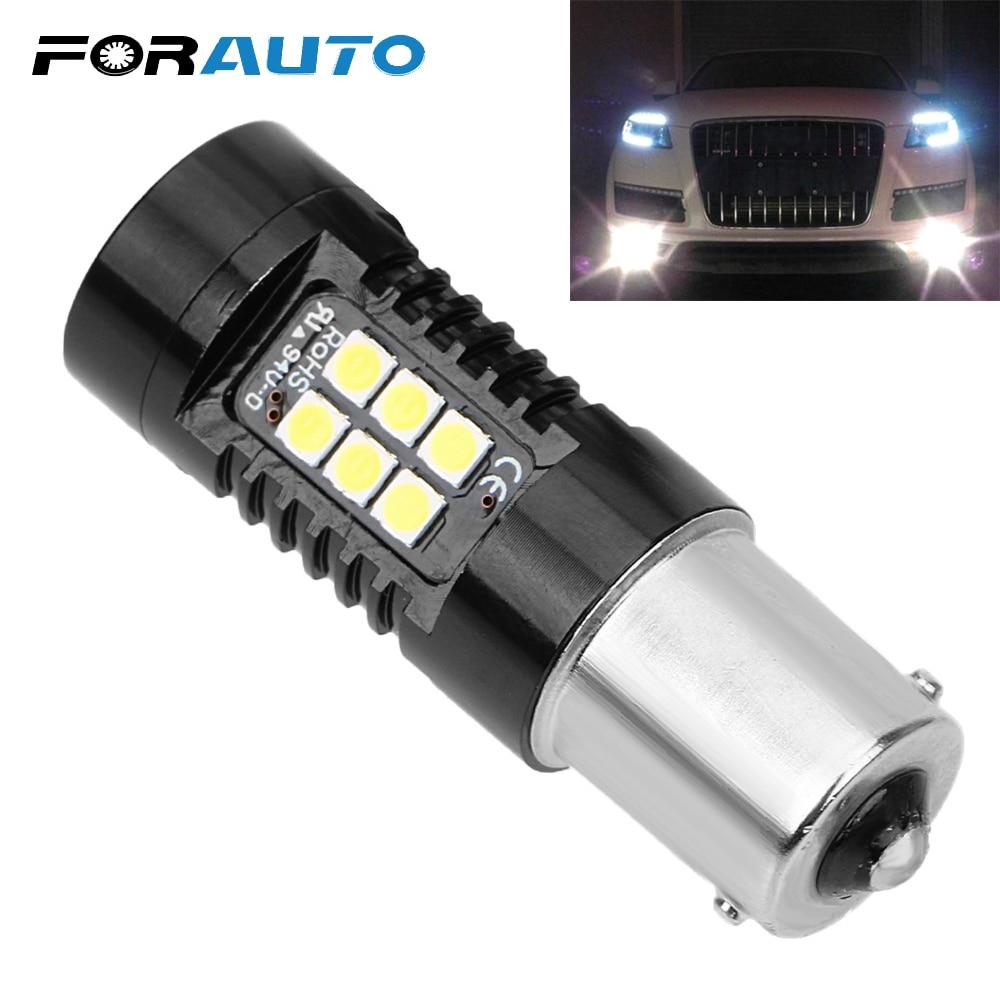2Pcs 1156 BA15S P21W Blink Red 30SMD R5W Car LED Fog Brake Tail Turn Light Bulbs