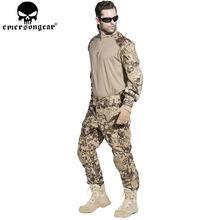 БДУ Emersongear Г3 форменная рубашка и штаны с накладками коленного сустава БДУ страйкбол военная игра равномерное дву Маскировочные костюмы EM8594 EM7047