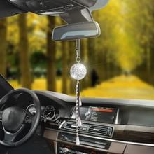 Автомобильный кулон, блестящий хрустальный шар, автомобильное украшение, шарм, авто интерьер, зеркало заднего вида, висячий орнамент, подарки