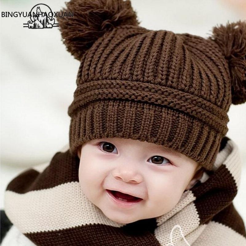 Grey Girl's Hats Winter Beanie Baby Sweater Fox Ktfgs Girls Boys Wool Warm Scarf Hood Holds Hats