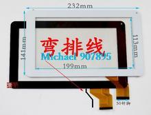 9 pulgadas de pantalla táctil tablet pc de pantalla táctil BSR032Fpc-A BSR032Fpc vidrio del panel digitalizador observando tamaño y color