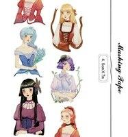 2016 NEW 1Roll 45mmx7m High Quality Girl Pattern Japanese Washi Decorative Adhesive DIY Masking Paper Tape