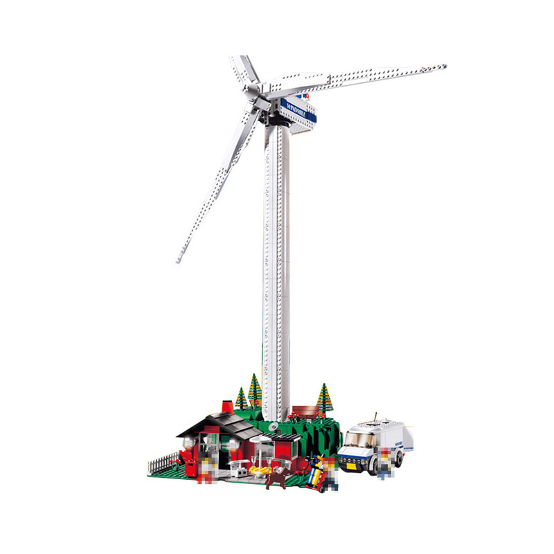 Lepin 37001 873Pcs Creative Series The Vestas Windmill Turbine Set Building Blocks Bricks DIY Toys For Children Model Gifts 4999 lepin 37001 creative series the vestas windmill turbine set children educationl building blocks bricks toys model legoing 4999