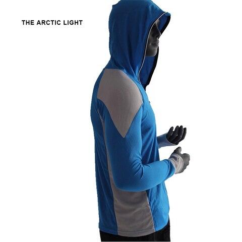 comprida com capuz protetor solar respiravel men secagem