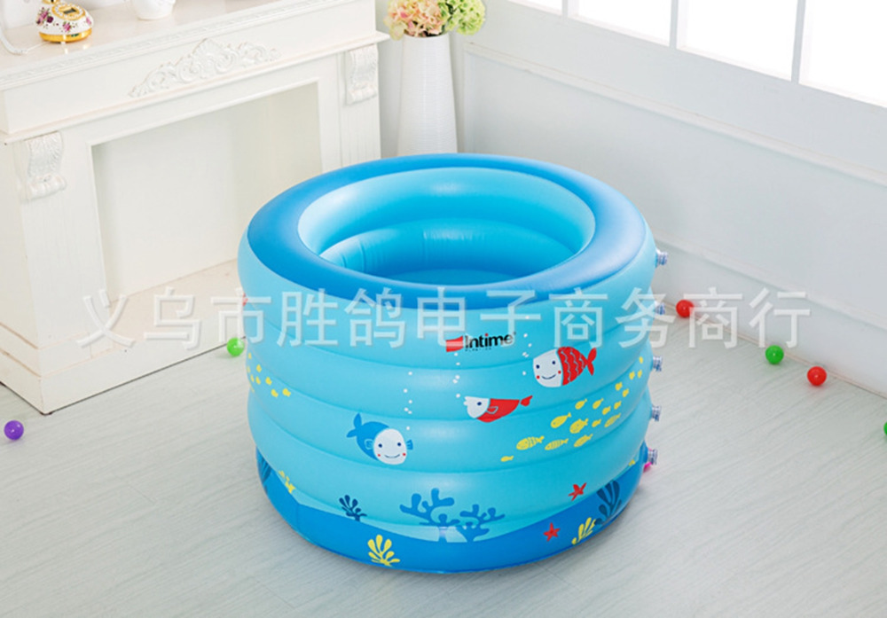 Kiddie Pool Portable Bath Tub Children Inflatable Swimming Ocean Ball Child Bathtub 106x75cm In Accessories From Sports Entertainment On