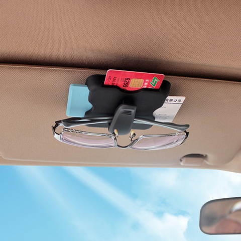 Car Sun Visor Clip Sunglasses Eyeglasses Glasses Holder Organizer Storage Case Clips Credit Card Package ID Car Interior Styling Pakistan