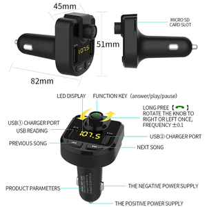 Image 4 - 12V Car MP3 Player Bluetooth USB Music FM Transmitter Handsfree LCD Cigarette Lighter MP3 Auto Charger Voltage Auto Accessories