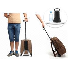 Carrinho de mala portátil dobrável, carrinho de alumínio pequeno para bagagem, carrinho de compras