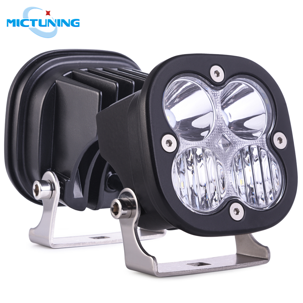 MICTUNING 50W Car LED Work Light Bar 12V Flood Spot Combo Beam Driving Lamps Offroad Led Bar For ATV SUV 4WD 4x4 Truck Tractor