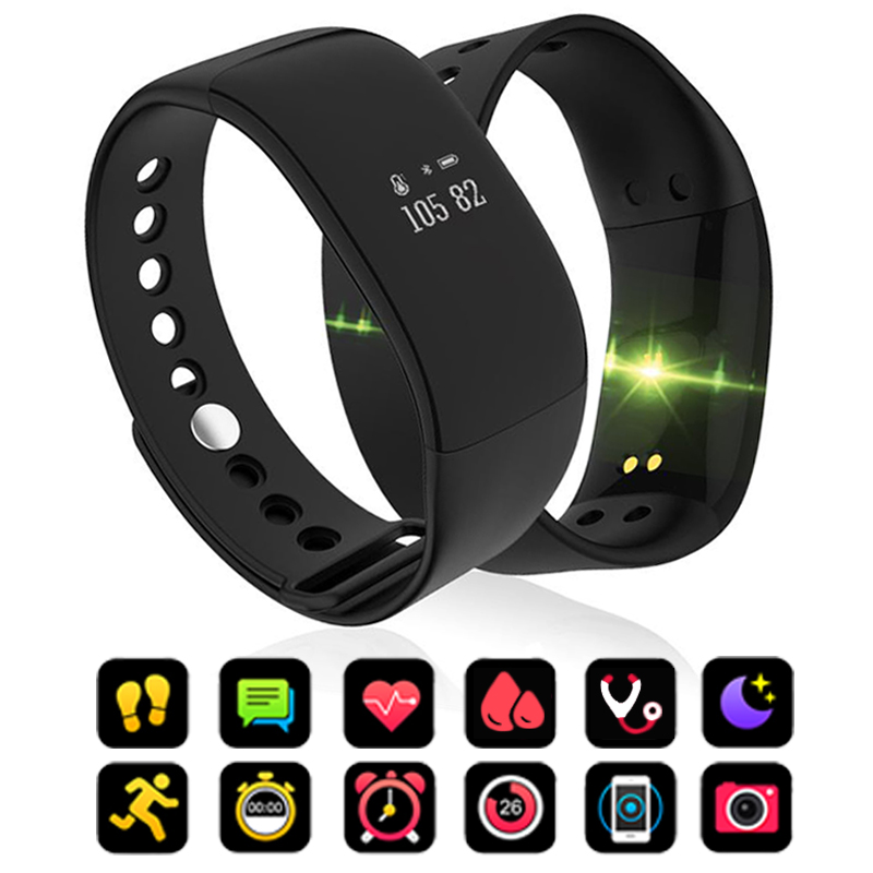 V66 Smart Bracelet Waterproof Heart Rate Monitor Men Women Smart Band Alarm Clock Sports Watch SmartWatch For Android IOS Phone