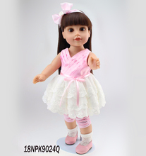 18 inch Plastic Baby Toy Doll with Lovely Princess Dress Journey Girl Vinyl Alexander Doll with Brown hair