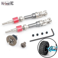 Mirbest RC DIY Parts for WLtoys 12428 12423 Upgraded metal front wheel drive shaft Front Turn CVD Alloy Drive Shaft 12428-0090 цены онлайн
