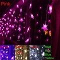 3.5 м 100 СМД 100 звезды многоцветный из светодиодов строки газа фестиваль праздник света рождество свадьба Decoracao занавес лампа ес / сша / великобритания / AU