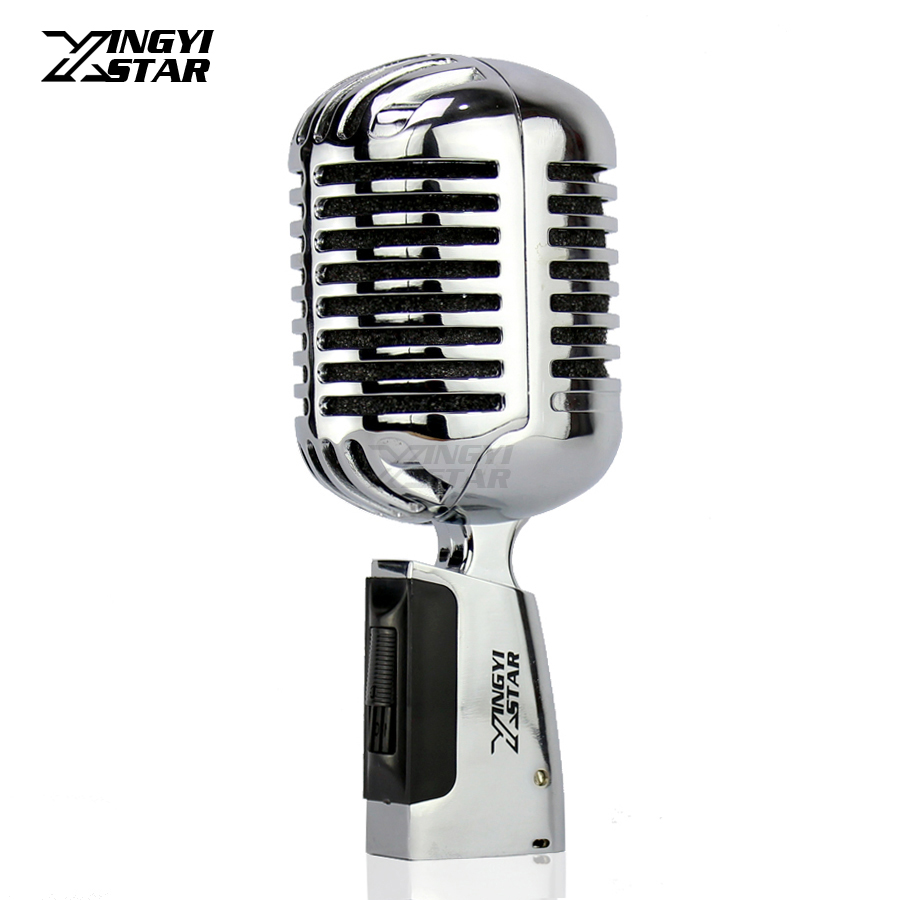 Deluxe Jazz Dynamic Microphone Vocal Classical Retro Style Professional Microfono Karaoke Mixer DJ Computer Recording Studio Mic free shipping high quality version sm 58 58lc sm58lc wired vocal karaoke handheld dynamic microphone microfone microfono mic