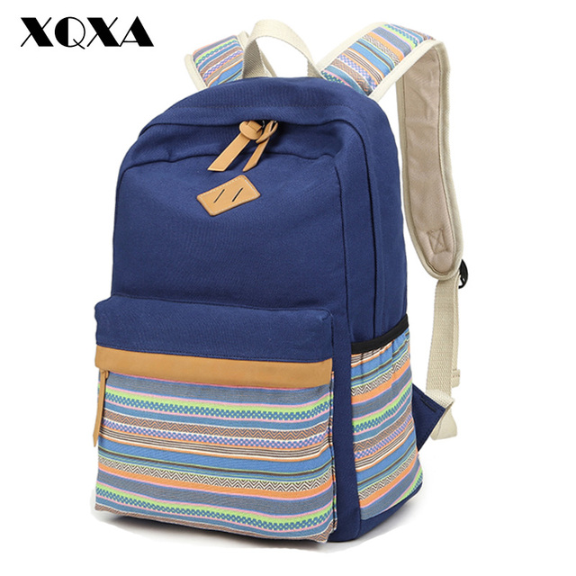 XQXA Bohemia Diseño Impresión de la Lona Mochilas escolares para Las Niñas Mujeres Mochila Bolsa Mochila Escolar Mochila Mochilas para Adolescente
