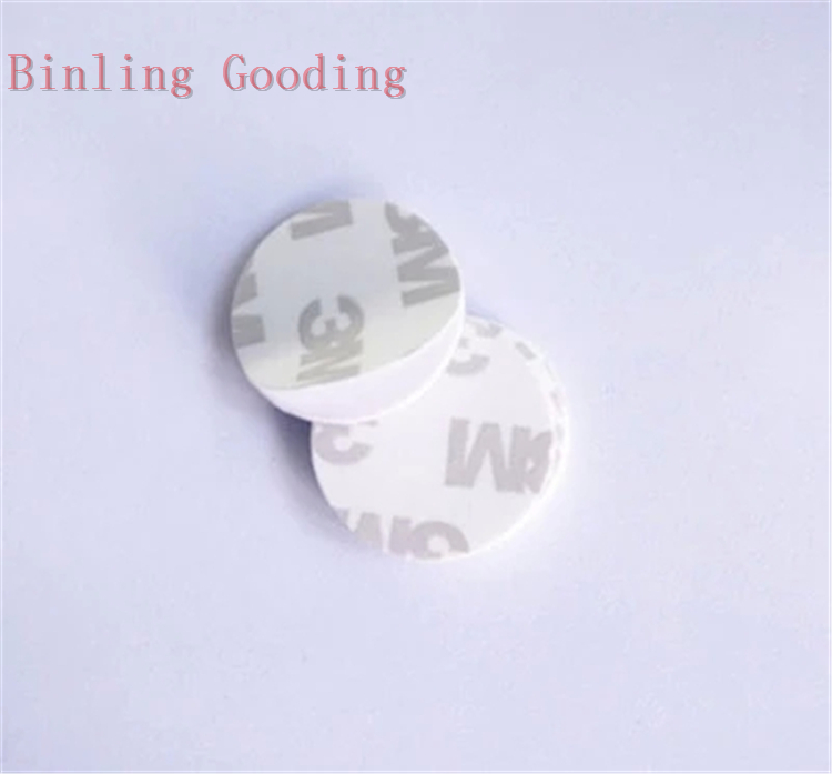 13.56MHZ NFC Tags MF 1K S50 F08 ISO14443A NFC Coin Card With 3M Adhesive Sticker(25mm)