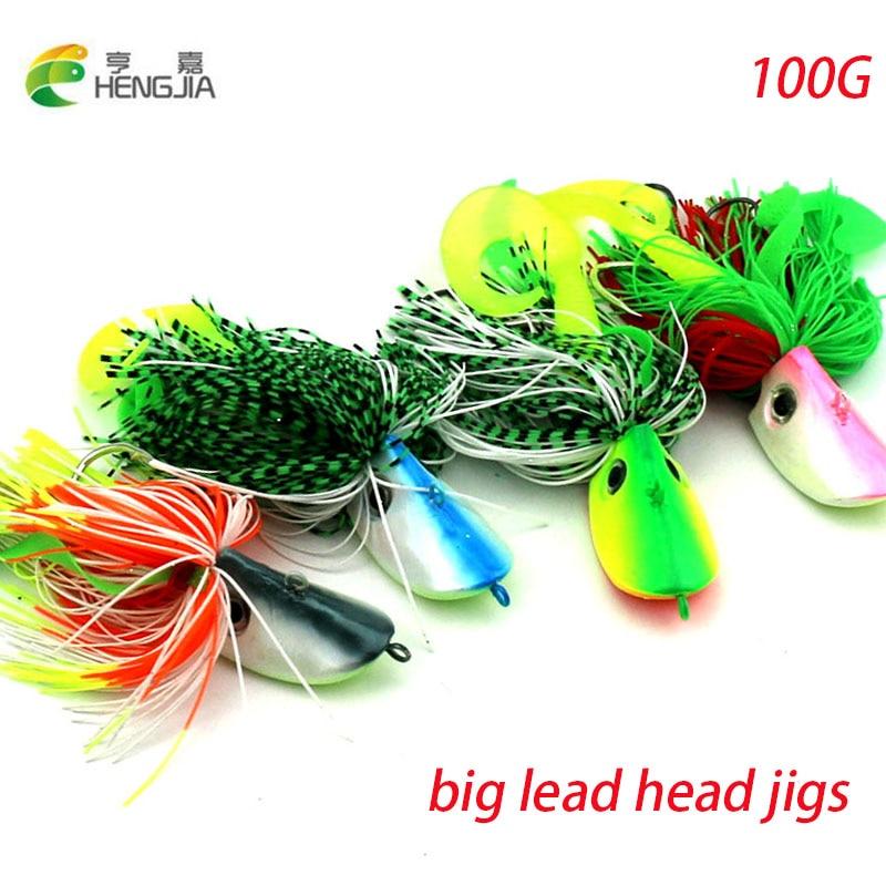 HENGJIA 100G grote metalen lead head jig buzzbait vissen lokken - Visvangst