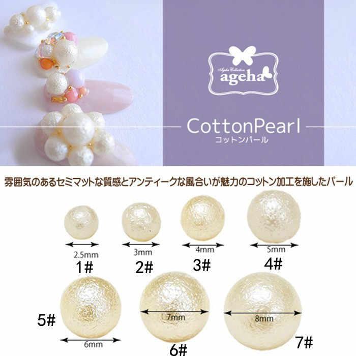 100 шт./упак. Япония Корея сплав для маникюра 3D 2,5 мм-8 мм Хлопок Жемчуг Металлические Аксессуары для фототерапии наклейки для ногтей DIY