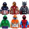 The Avengers Endgame Marvel Superhero Captain America Iron Man Thor Hulk Sweatshirt for Kids