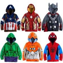 Толстовки с капюшоном для мальчиков толстовка для девочек с героями мультфильма «мстители», «Эндшпиль», «Капитан Америка», «Железный человек», «Тор», «Халк» детские футболки