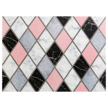 Nordic INS Entrance hall carpet PVC wire loop mat Marble texture geometry Door Living room floor bathroom non-slip rug