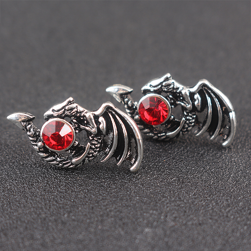 The ice and fire song around the movie game of thrones crystal-encrusted fire dragon earrings
