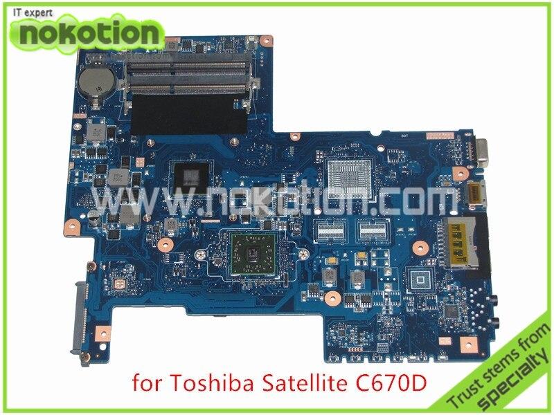 NOKOTION PN 08N1-0NG0J00 H000031360 For Toshiba satellite C670 C670D Laptop motherboard CPU onboard DDR3 nokotion 60 days warranty laptop motherboard for toshiba satellite s50 s50dt a a6 5345m cpu pn 1310a2556002 sps v000318020