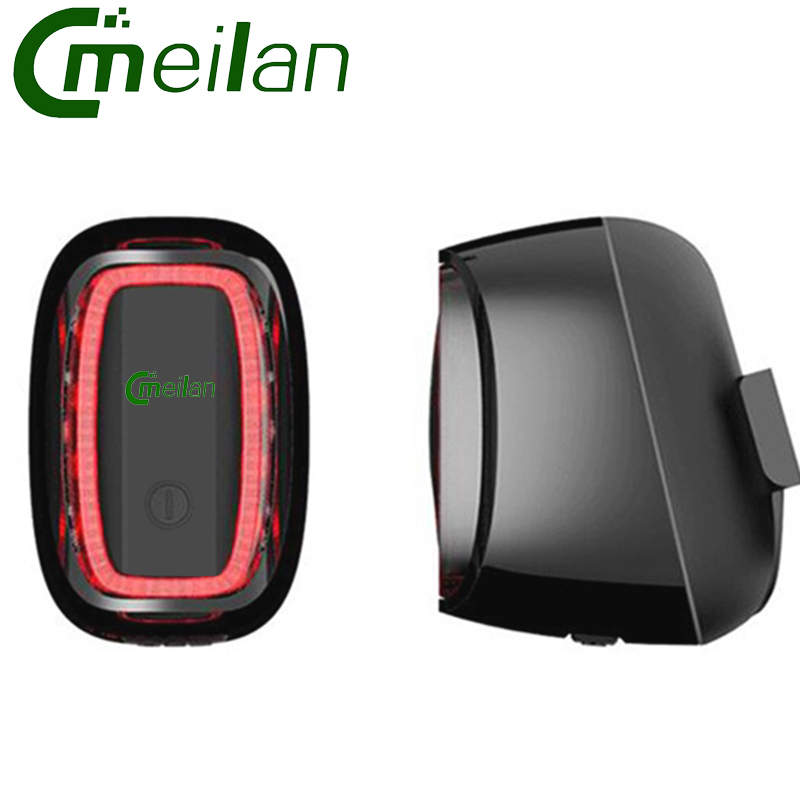 Smart Bicycle Bike Light Usb Rechargeable Waterproof Safety Tail Lights 7 Mode Meilan X6 Brand Led