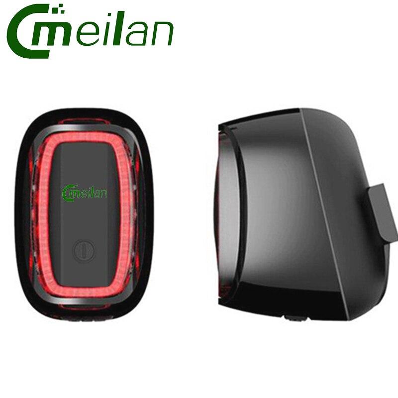 Meilan X6 Vélo Arrière lumière USB lumière De Vélo lampe Rechargeable intelligente Lumière-sensit Vélo Led vélo accessoire
