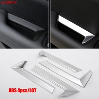 4PCS/lot ABS Car interior trim interior armrest handle car covers trim fit for Cadillac XT5 2016 2017 Accessories car styling