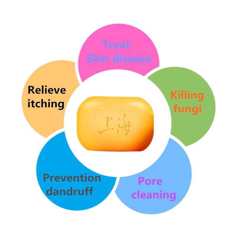 2019 Hot selling 85g Shanghai Sulfur Soap Treat Itching Acne Psoriasis Mite Dermatitis antibiotic