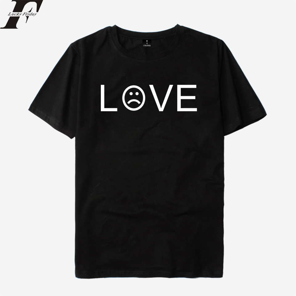 LUCKYFRIDAYF 2018 Lil Peep R.I.P Rapper Short Sleeve cotton funny T shirts Men/Women LOVE T-shirt Male camiseta Summer Top Tees