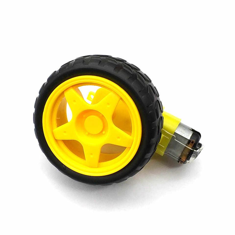 Kit de chasis de Robot de coche inteligente 1/2 Mayitr DIY, Motor de engranaje de rueda de neumáticos de plástico