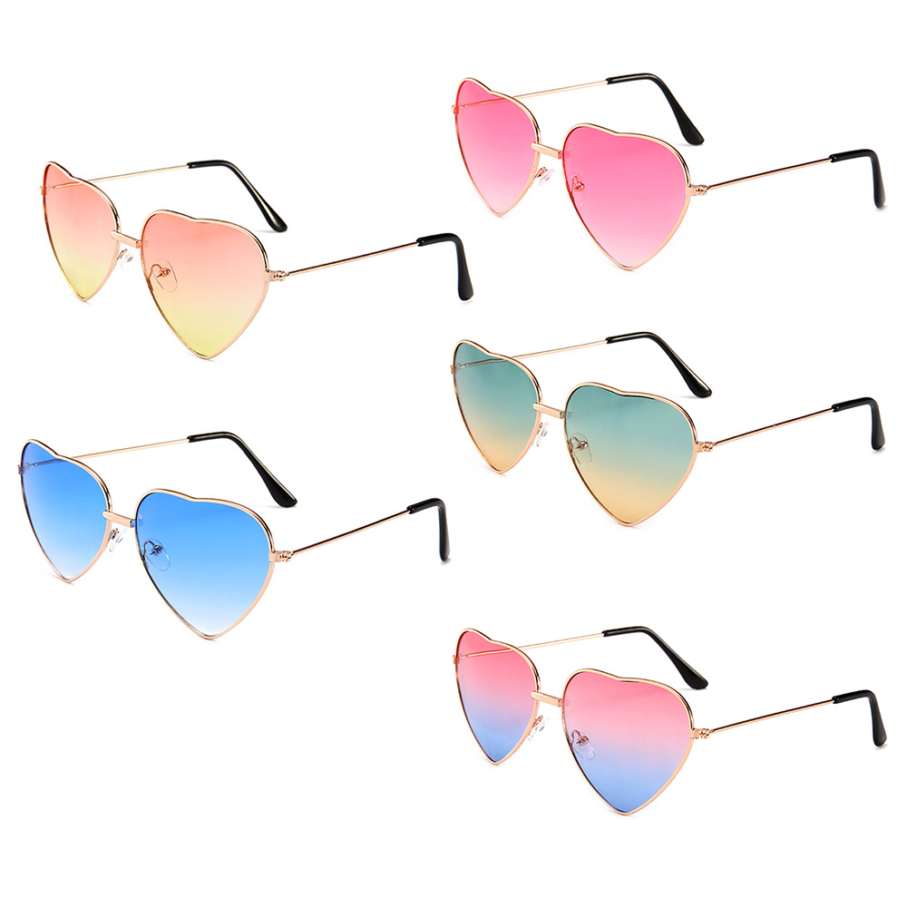 New Style Sunglasses Women's Eyewear Polarized <font><b>Glasses</b></font> Car <font><b>Drivers</b></font> Night Vision Goggles Driving Heart Shaped Sunglasses image