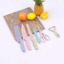Кухонные ножи из нержавеющей стали 6 шт. набор ножниц для чистки овощей и фруктов мясо рыба нож для чистки овощей и фруктов утилита сантоку нож для нарезки готовка хлеба