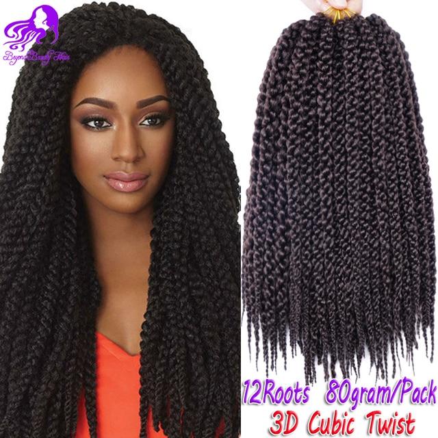 12inch 3d Split Cubic Twist Crochet Braids Curly Hair